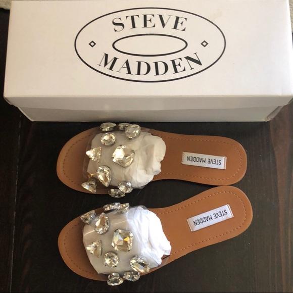 "7bf7920d0b5 Steve Madden ""Rosalyn Rhinestones"" sandals size 6"
